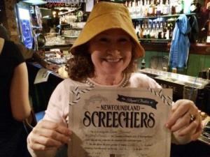 Screech-In certificate