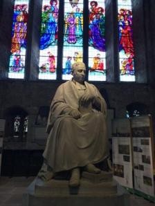 Limerick St Mary's statue and glass