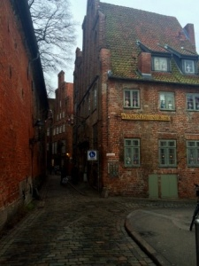 Germany Lubeck Alley with Puppet Museum
