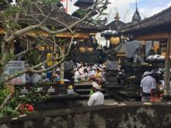 Prayers at temple