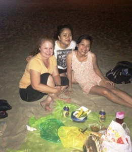 picnic on beach